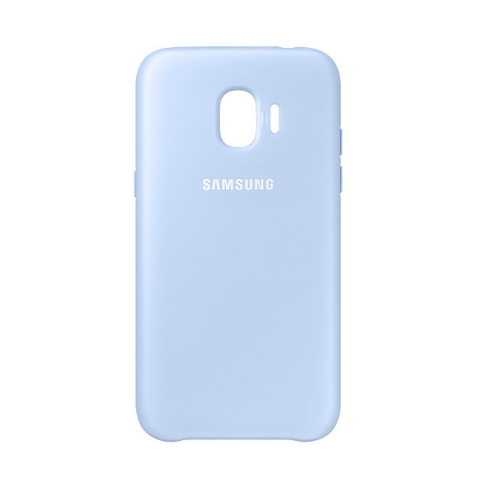 Чехол-накладка Samsung Dual Layer Cover синий, для Galaxy J2