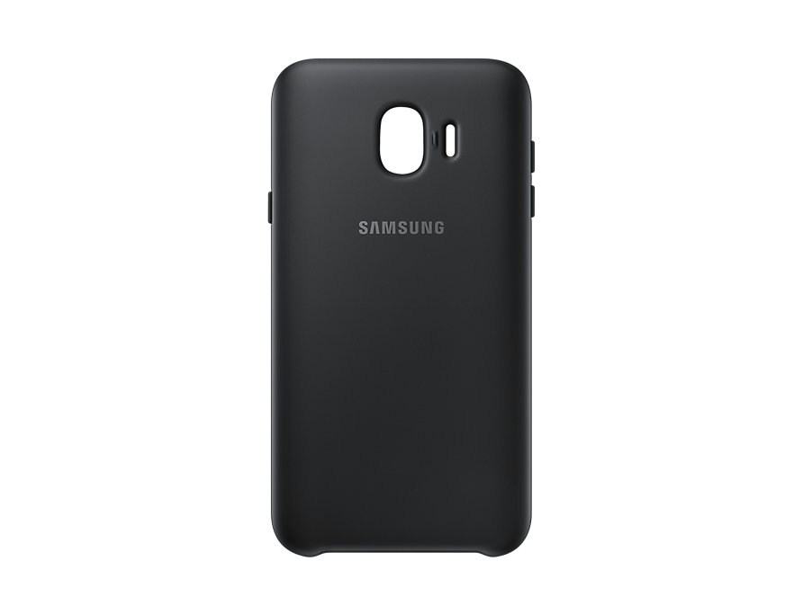 Чехол Samsung Dual Layer Cover черный, для Galaxy J4 2018