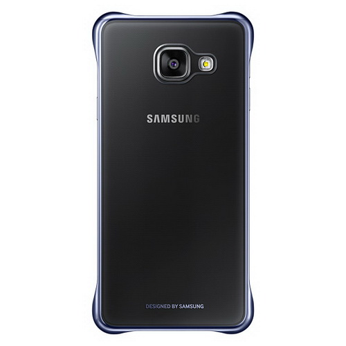 Чехол Samsung Clear Cover черный, для Galaxy A3 (2016)