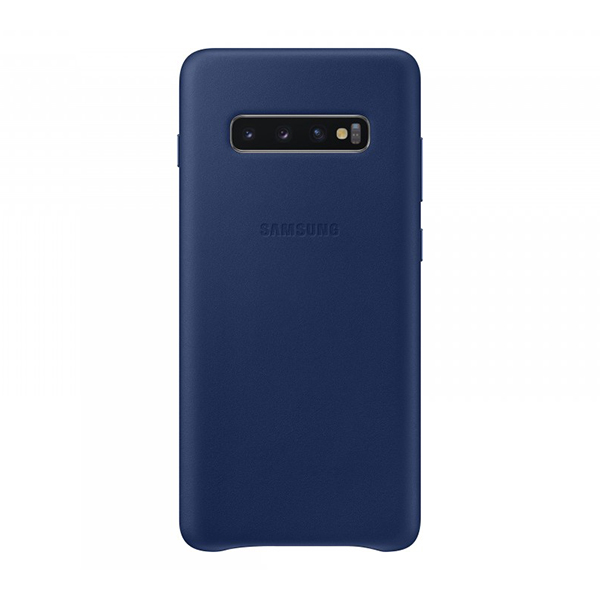 Чехол-накладка Samsung Leather Cover синий, для Galaxy S10+