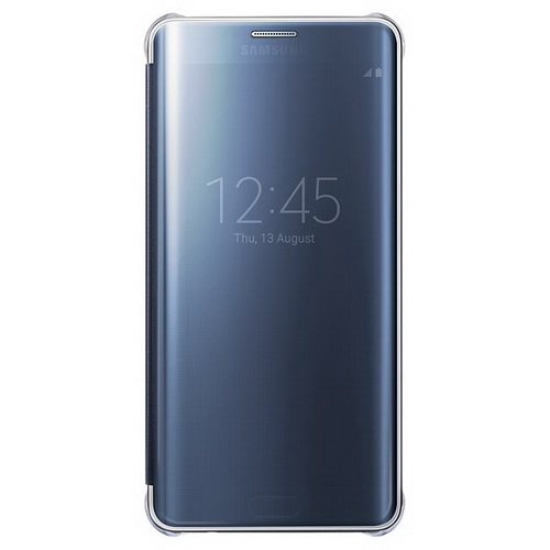 Чехол Samsung Clear View Cover для Galaxy S6 Edge Plus черный