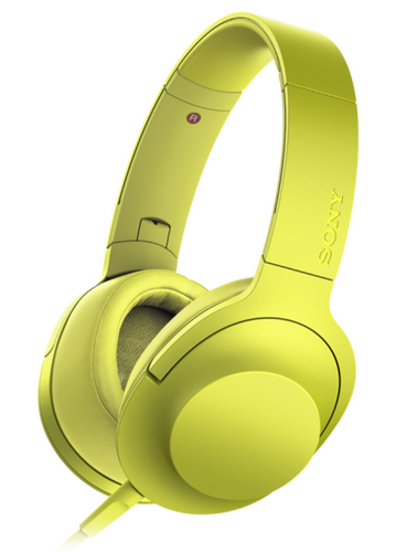 Наушники Sony h.ear on с поддержкой Hi-Res Audio, желтые