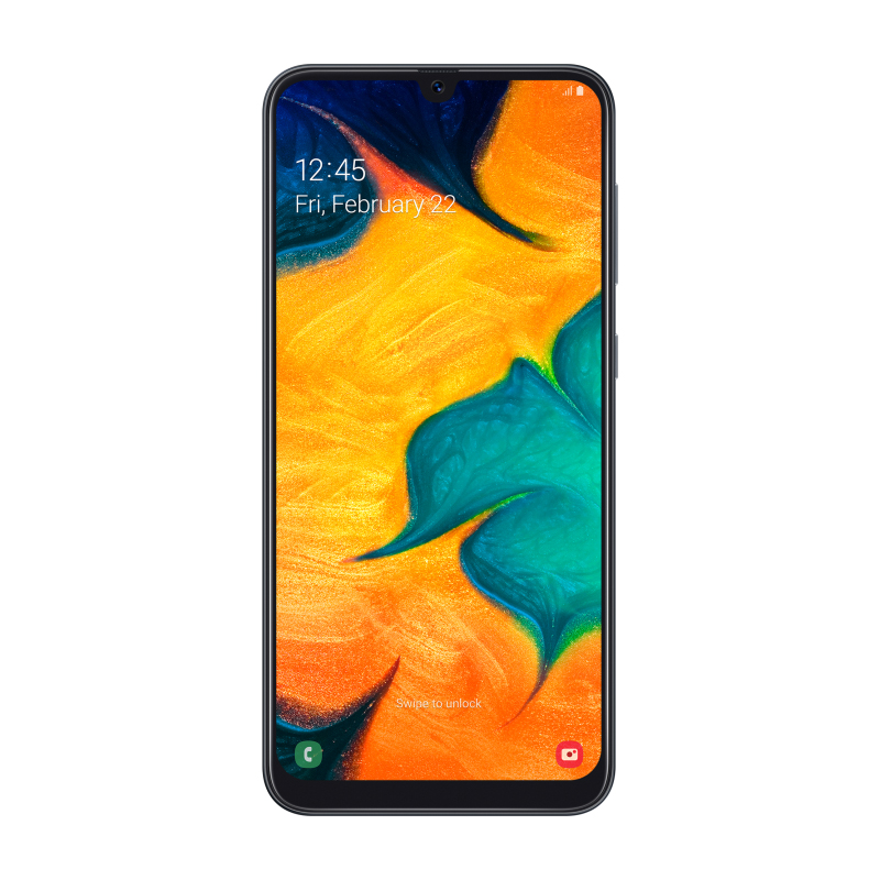 Смартфон Samsung Galaxy A30 4/64Gb чёрный SM-A305FN/DS