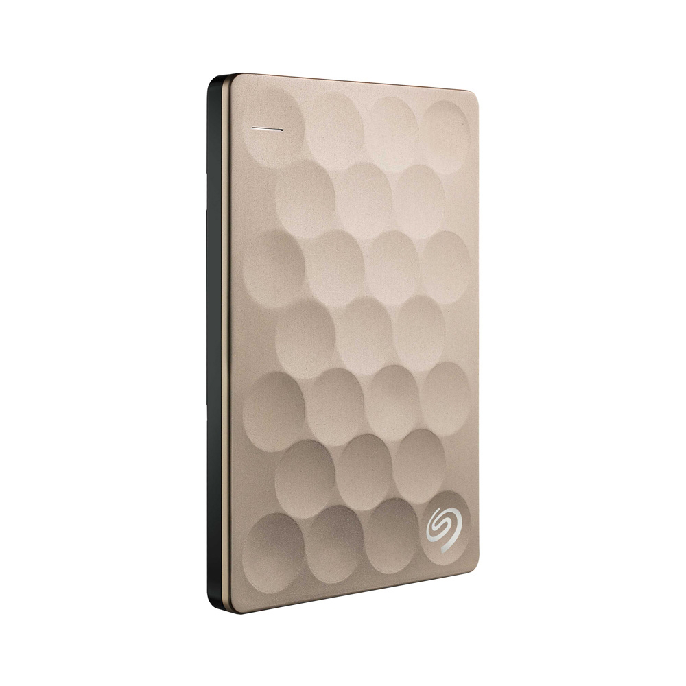Внешний жёсткий диск 2 Tb Seagate Backup Plus Ultra Slim, Gold