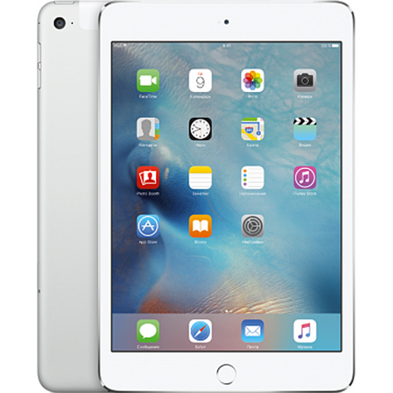 iPad mini 4 Wi-Fi + Cellular 128GB Серебристый (MK772RU/A)